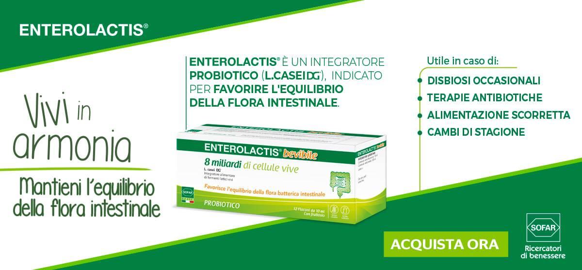 Scopri enterolactis bevibile 12 flaconcini