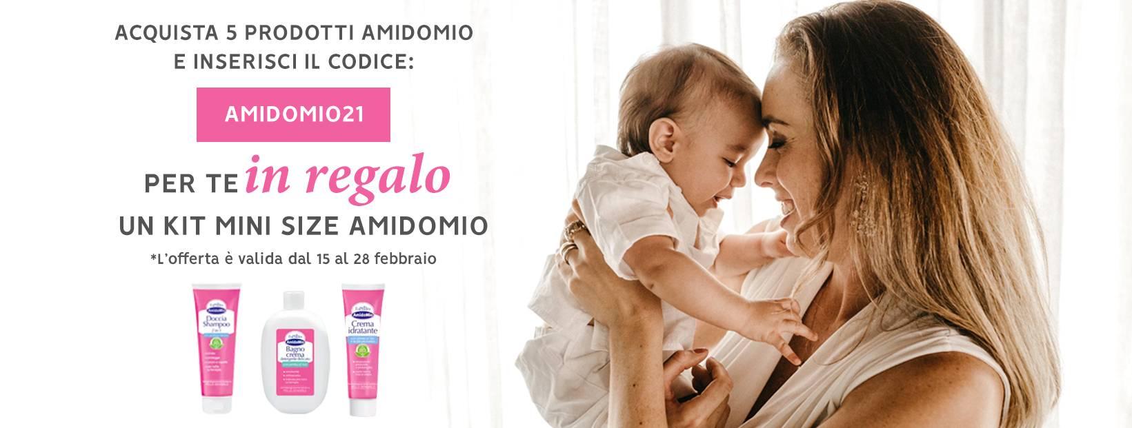 Acquista almeno 10 prodotti Amido Mio, per te in regalo un kit mini size amido mio