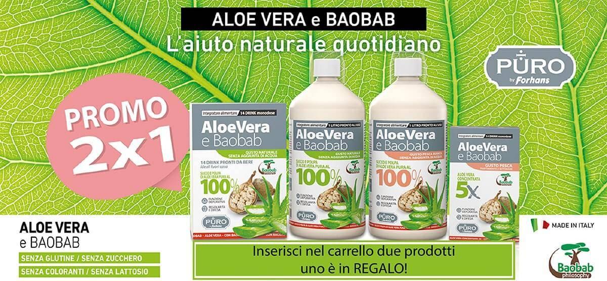 Approfitta della promo 2x1 per gli integratori Aloe e Baobab Uragme