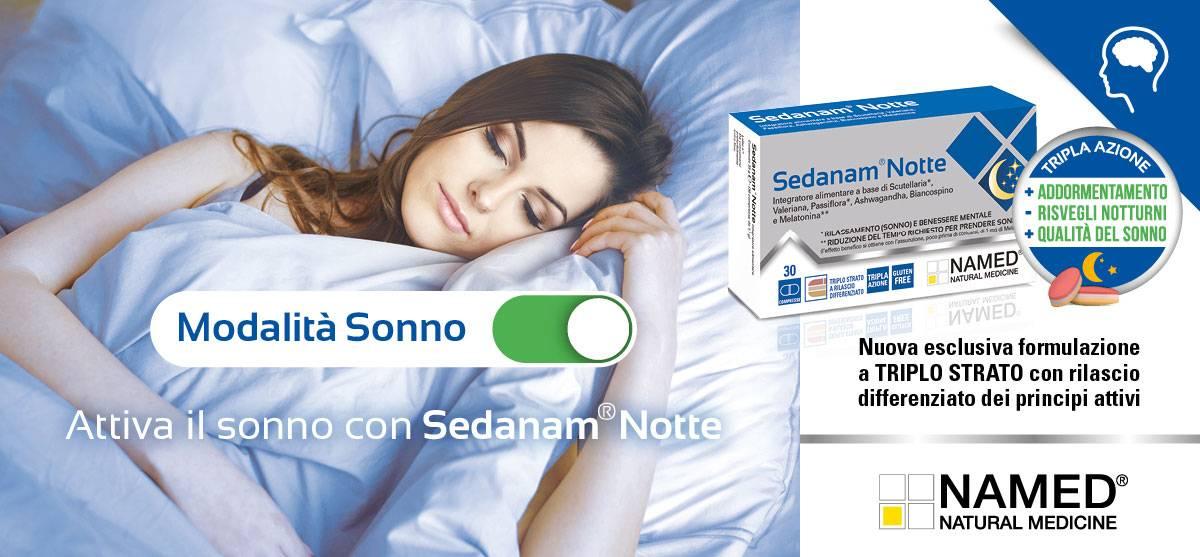Attiva il sonno con sedanam notte