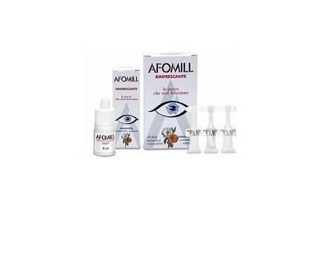 Afomill Gocce Oculari Rinfrescanti 10 Flaconcini da 0,5 ml