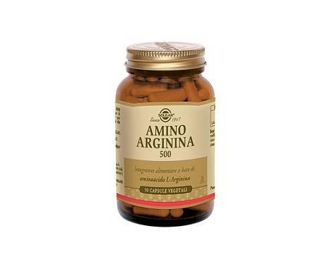 Solgar Amino Arginina 500 Integratore Con L-Arginina 50 Capsule Vegetali