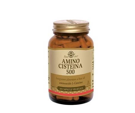 Solgar Amino Cisteina 500 Integratore Capelli Unghie 30 Capsule Vegetali