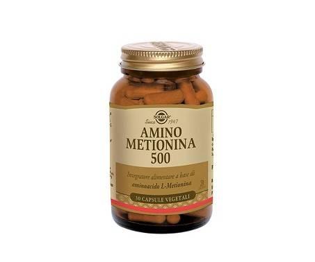 Solgar Amino Metionina 500 Integratore Aminoacidi 30 Capsule
