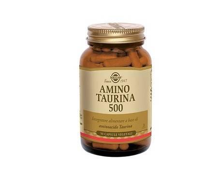 Solgar Amino Taurina 500 Integratore Fegato 50 Capsule Vegetali