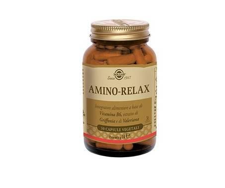 Solgar Amino-Relax Integratore Rilassante 30 Capsule