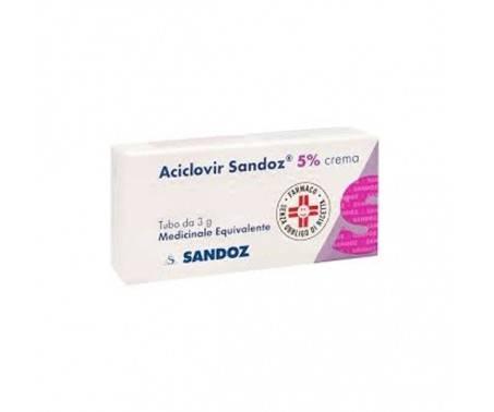 Aciclovir Sandoz 5% Crema Antivirale 3 g