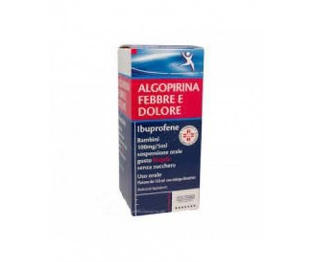 Algopirina Febbre e Dolore Bambini Ibuprofene Flacone 150 ml Fragola