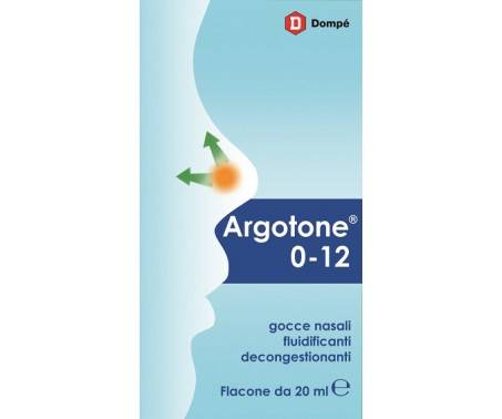Argotone 0-12 - Gocce nasali fluidificanti decongestionanti - 20 ml