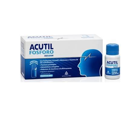 Acutil Fosforo Advance - Integratore per memoria e concentrazione - 10 flaconcini