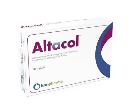 Altacol - Integratore per il colesterolo - 20 Capsule