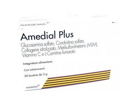 Amedial Plus - Integratore per ossa e cartilagini - 20 Bustine
