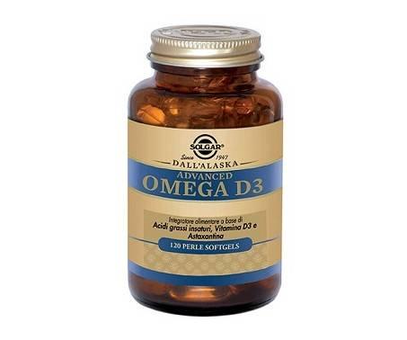 Solgar Advanced Omega D3 Integratore Colesterolo 120 Perle Softgel