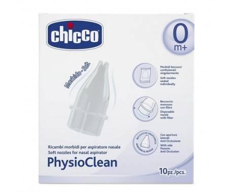 Chicco Physioclean Ricambi Aspiratore Nasale 10 Pezzi