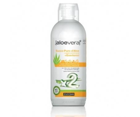 Zuccari AloeVera 2 Succo Puro D'Aloe A Doppia Concentrazione + Enertonici 1 L
