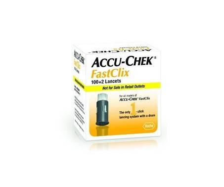 Accu-Chek Fastclix Lancette Pungidito per Glicemia 100+2 Pz