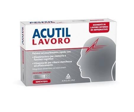 Acutil Lavoro - Integratore per la mente - 12 bustine orosolubili