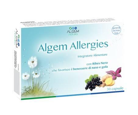 Algem Allergies Integratore Benessere di Naso e Gola 30 Capsule