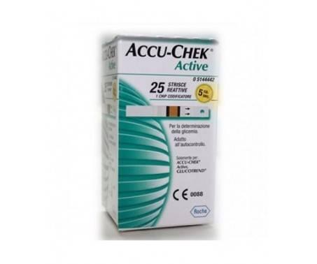 Accu-Chek Active Strisce Reattive Controllo Glicemia 25 Pz