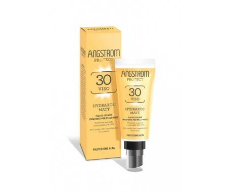 Angstrom Fluido Solare Matt Idratante Pelle Mista SPF 30 Protezione Viso 40 ml