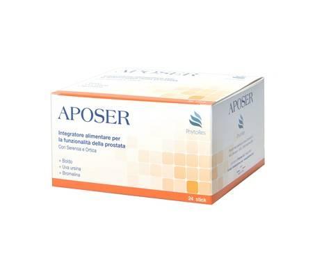 Aposer integratore alimentare utile per le vie urinarie e la prostata 24 stick