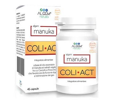 Algem Manuka Coli-Act Integratore Gastrointestinale 45 Capsule