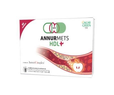 AnnurMets HDL+ Integratore Trigliceridi e Colesterolo 30 Capsule