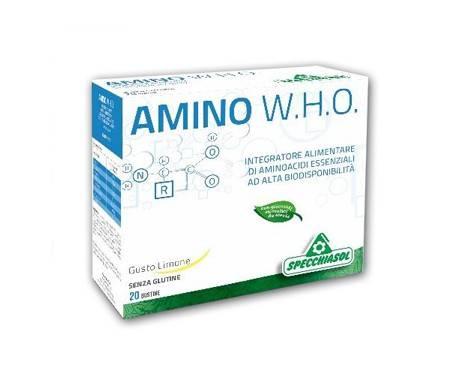 Specchiasol Amino WHO Integratore di Aminoacidi 20 Bustine