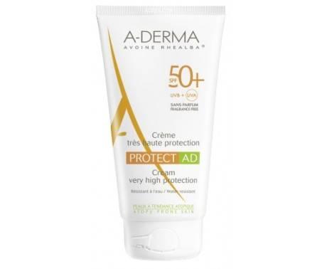 A-Derma Protect AD Crema Solare Viso SPF 50+ Pelle Tendenza Atopica Tubo 150 ml
