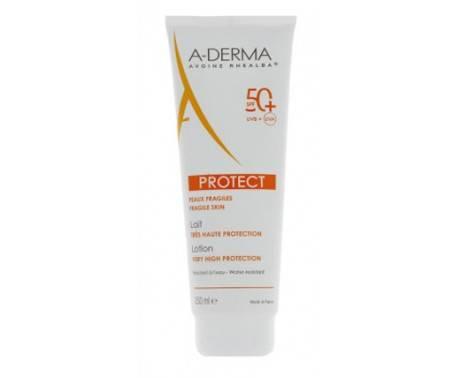 A-Derma Protect Latte Solare Adulti SPF 50+ Protezione Pelle Fragile 250 ml