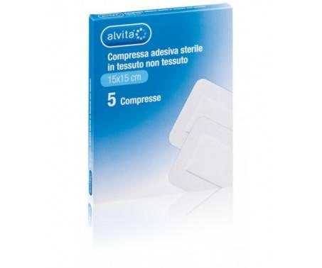 Alvita Compressa Adesiva Sterile Dimensioni 15x15cm