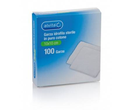 Alvita Garza Adesiva Sterile 10x10 cm 100 Pezzi