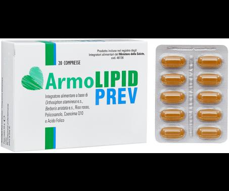 ArmoLIPID Prev - Integratore per il controllo di colesterolo e trigliceridi - 20 Compresse