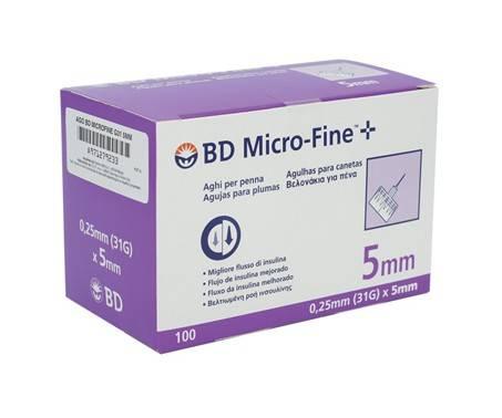 BD Microfine Ago 31G 5mm 100 Pezzi