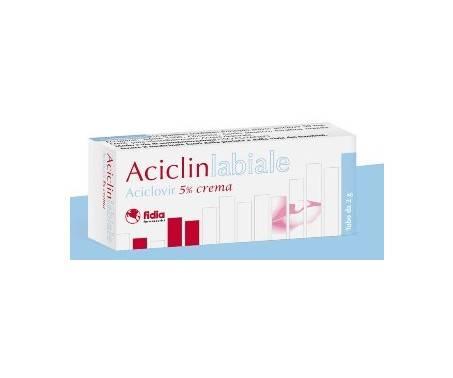 Aciclinlabiale Crema 5% Aciclovir Herpes Tubo 2 g