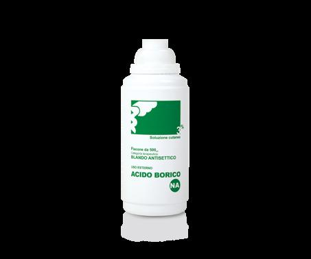 Acido Borico Nova Argentia 3% Soluzione Cutanea Antisettico Disinfettante 500 ml