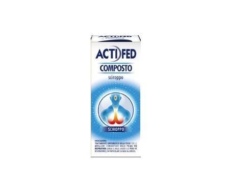 Actifed Composto Sciroppo Pseudoefedrina Cloridrato Decongestionante 100 ml