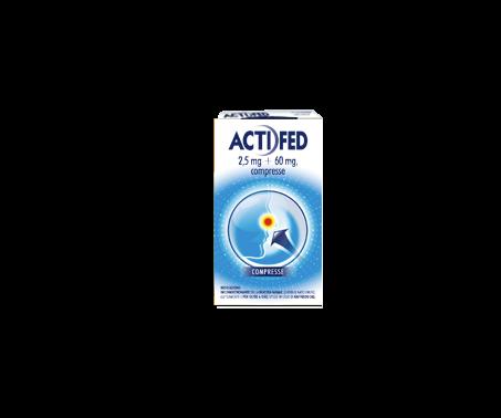 Actifed 2,5 mg + 60 mg Pseudoefedrina Cloridrato Decongestionante 12 Compresse