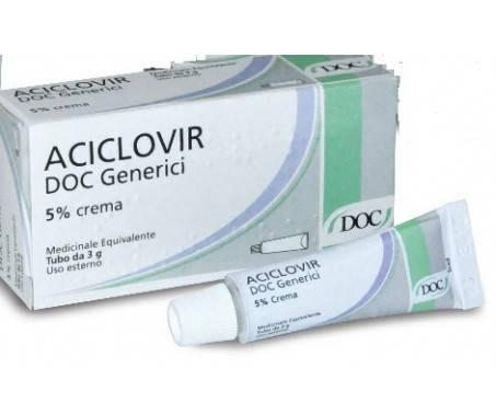 Aciclovir Doc Generici 5% Herpes Crema 3g