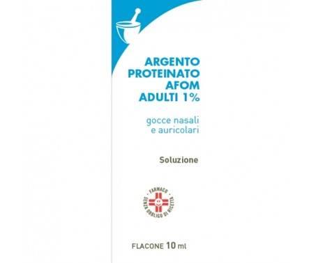 Argento Proteinato Afom 1% Adulti - Gocce nasali e auricolari - 10 mL