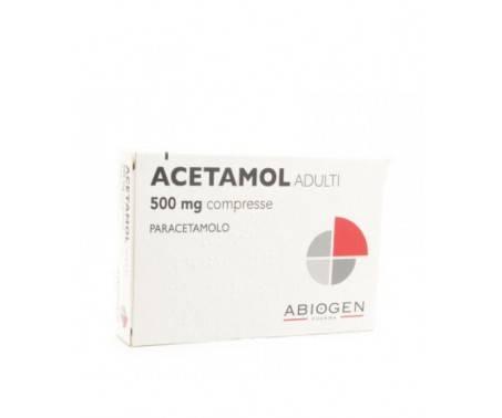 Acetamol Paracetamolo 500mg Adulti - 20 Compresse