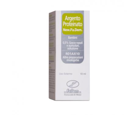 Argento Proteinato New Fadem 0,5% Gocce Nasali e Auricolari Bambini 10 ml